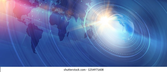 Graphical modern digital world news background, technology communication background. 3d illustration