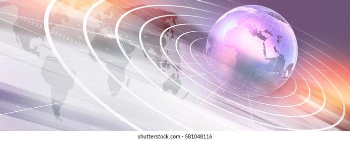 Graphical Modern Digital World News Background, Technology Communication Background