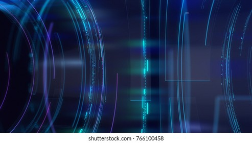 Graphical Modern Digital World News Studio Background. Abstract Digital World with Digital Binary Code Background