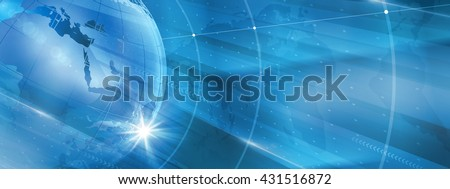 Graphical Modern Digital World News Background, Technology Communication Background