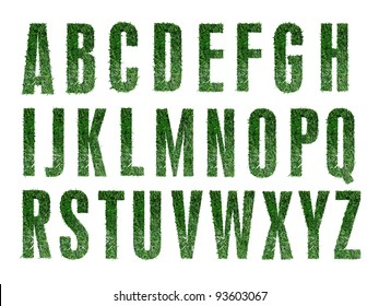 Grass Alphabet (numbers available in portfolio)