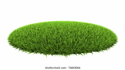 Grass arena isolated on white background, 3d render