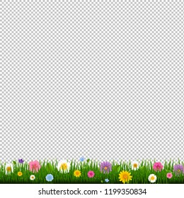 Grass And Border Transparent Background