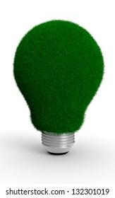 Grassed green bulb