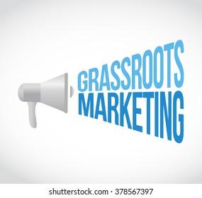 grassroots marketing megaphone message concept illustration design graphic