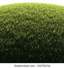 Grassy hill - natural background illustration with copy-space for posters, cards or banners, isolated edge