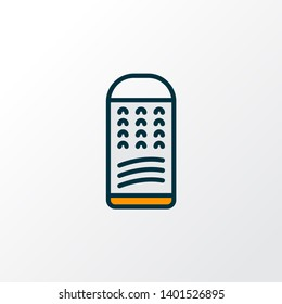 Grater icon colored line symbol. Premium quality isolated slicer element in trendy style.