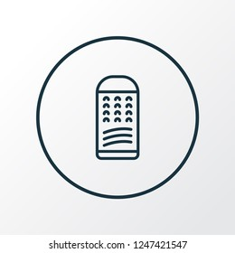 Grater icon line symbol. Premium quality isolated slicer element in trendy style.