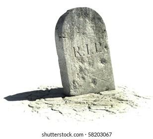 gravestone on the white background