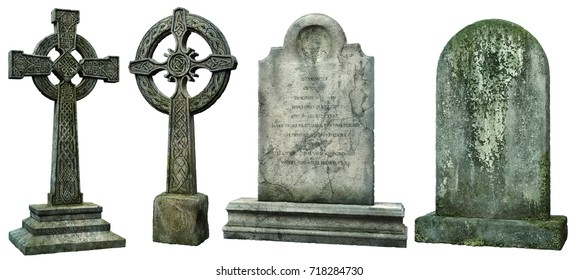 Gravestones 3D illustration