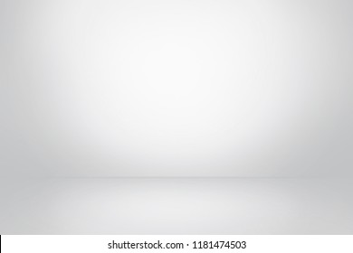 gray  background, horizontal white and soft dark studio, empty room and abstract wall