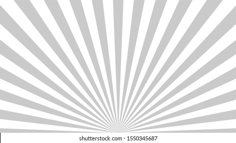 Gray background superhero. Super hero cartoon gradient texture. Sun rays burst. Radiate sun beam, burst effect retro. Sunbeam light flash boom. Template sunlight starburst poster illustration