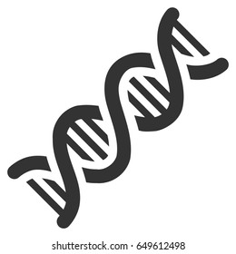 Gray DNA Spiral toolbar icon. Raster pictograph style is a flat symbol on diagonal hatch transparent background.
