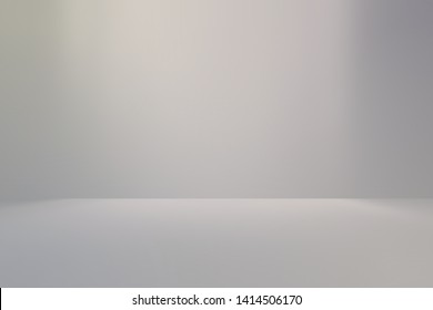 Gray empty 3D room studio gradient used for background and display your product - Illustration
