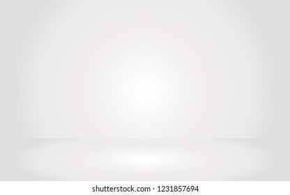 Gray empty room studio gradient with spotlight used for background and display your product