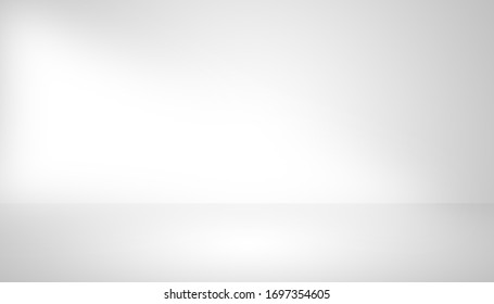 Gray empty room studio gradient with spotlight used for background and display your product.