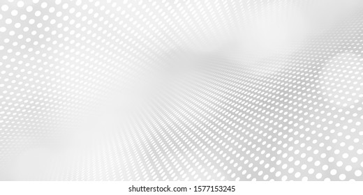 Gray halftone pattern with white line motion backdrop wallpaper. Clean Grey geometric background.