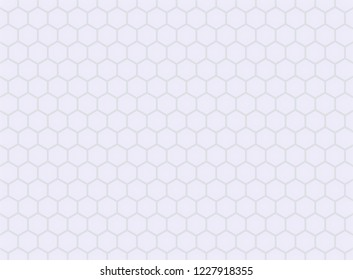Gray Hexegon Honeycomb Pettern Background