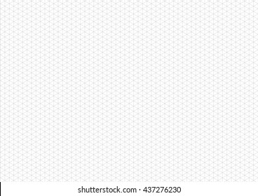 Gray isometric grid with vertical guideline on horizontal a4 sheet size