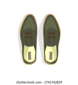 Gray male shoes illustration. Style, male fashion, formalwear. Shoes concept. illustration can be used for topics like clothing, lifestyle, male fashion