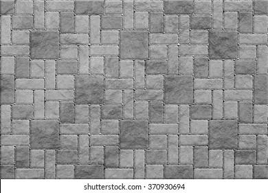 Gray Pavement , Rectangular and Big and Small