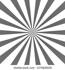 Gray ray background. Vintage abstract texture. Retro starburst, sun beam. Halftone color. Light burst. Bright shine sunburst. Empty blank, scrapbook surface. Clean nature energy illustration