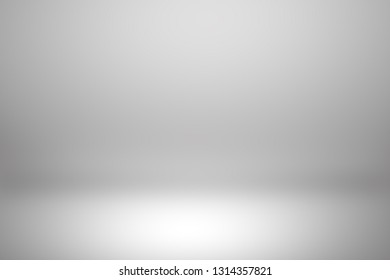 Gray room in the 3d. Light style background.