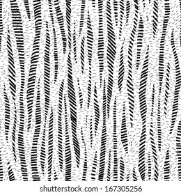 Gray scale strips hand drawn seamless pattern