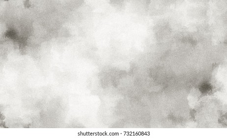 Gray Seamless Pattern. Monochrome Watercolor Soft Blurred Ink Surface. Textile Design Grunge. Endless Black-White Metal Texture Backdrop. Vintage Tone Spots, Cracks, Spray Of Paint, Chips, Cracks