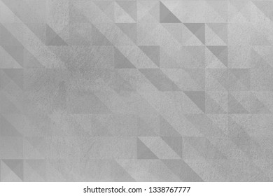 Gray texture with a geometric pattern for a designer background. Illuminated surface. Artistically textured background. Concrete wall with plaster. Space to fill. Raster monochrome image.