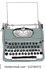 Gray Typewriter old