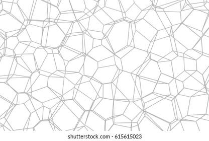 Gray voronoi structure background