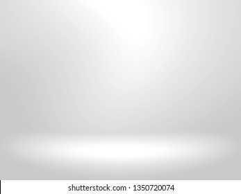 Gray and white background. Abstract silver background for web design templates, christmas, valentine, product studio room and business report with smooth gradient color.