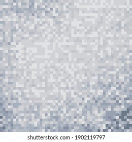 Gray and white background. Art pixel art. Blue and pink texture.