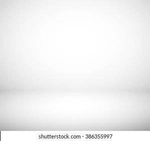 Gray and white gradient studio room background