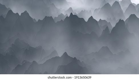 Grayscale landscape for background website wallpaper