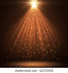 great background with shining stars and rays