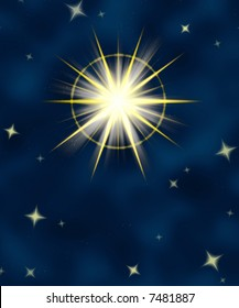great big star flare or shining christmas star