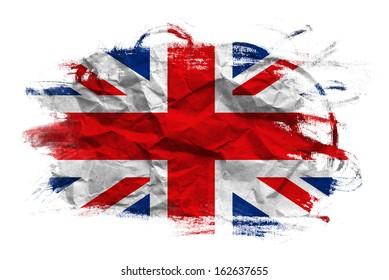 Great Britain flag. United Kingdom flag in grunge technique.