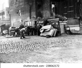 Great Depression Riverfront Shantytown (35th Street & East River) New York City