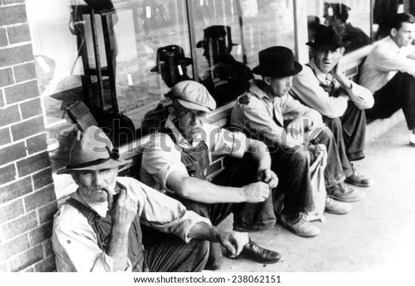 Große Depression Arbeitslose Männer der 1930er Jahre