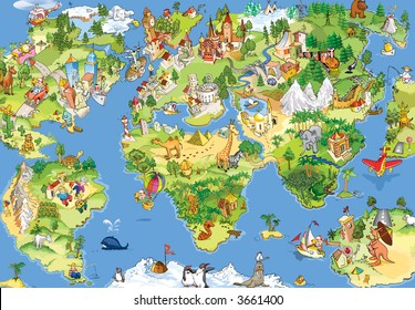 29,286 World map World Map Cartoon Images | Royalty Free Stock ...