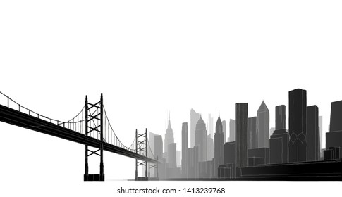 great modern city 3d illustration
