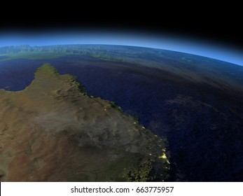 Great Barrier Reef From Space Stock Illustrations Images