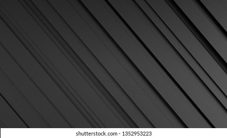 Great texture of dark graphene sheets with micro relief. Black background lines. 3D Rendering.