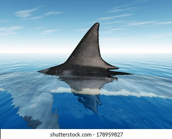 Great White Shark Fin Computer generated 3D illustration