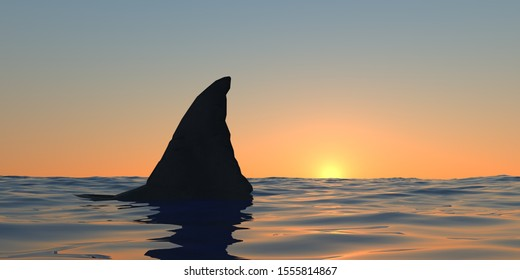 Great white shark at the ocean extremely detailed and realistic high resolution 3d image