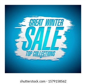 Great winter sale banner concept, rasterized version