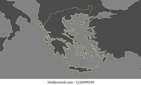 Greece Topographical Map Images Stock Photos Vectors Shutterstock