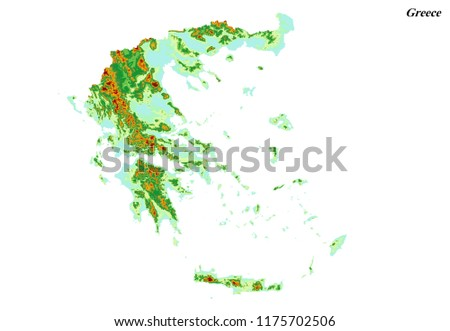 Royalty Free Stock Illustration Of Greece Elevation Map 3 D